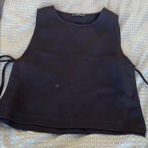Open side black tank top